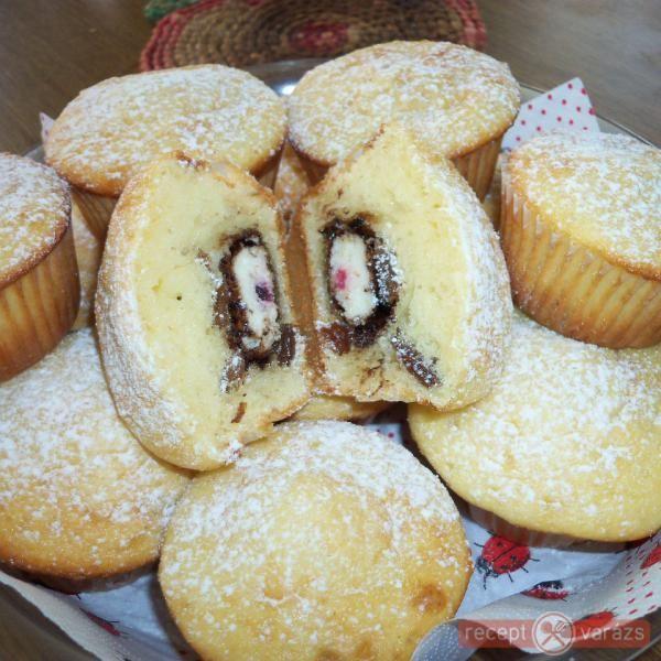 Duplán túrós muffin