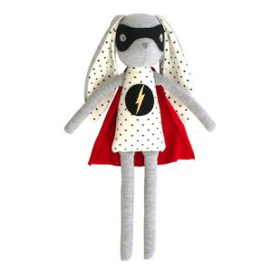 Alimrose – Super Hero Bunny 50cm Up up and AWAY! Our Super Hero Bunny will save the day.