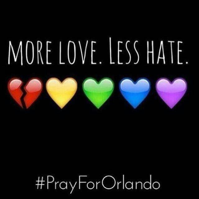 More Love Less Hate Pray For Orlando awareness prayer pray in memory pray for orlando
