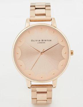 Agrandir Olivia Burton - Montre-bracelet or rose à bordure festonnée