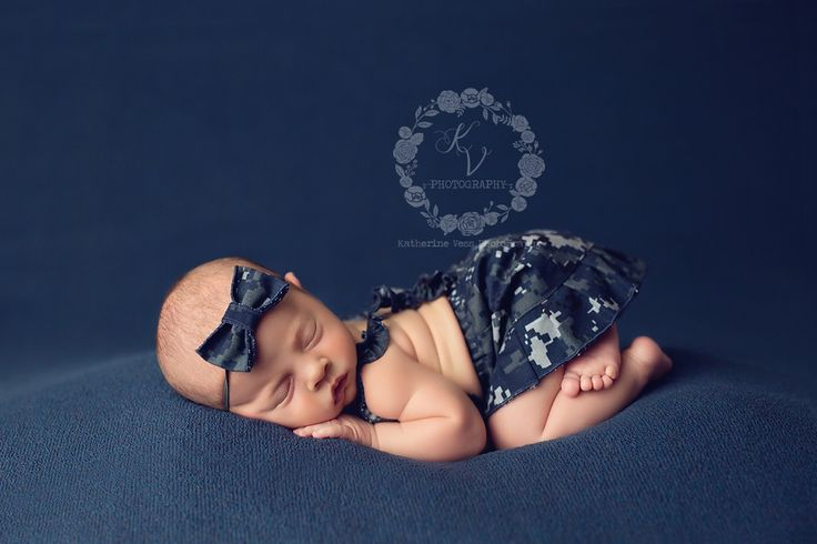 Army, Air Force, Marine and Navy options for baby girls. United States Military camoflage for newborn photography!