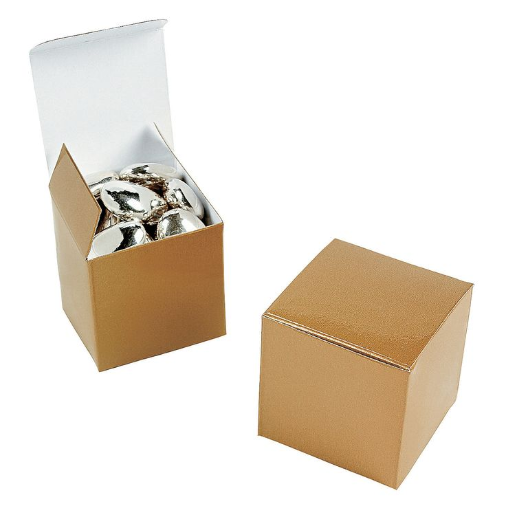 Mini Gold Gift Boxes - OrientalTrading.com $3.25 for 24 pieces // this would work for the candy bar!