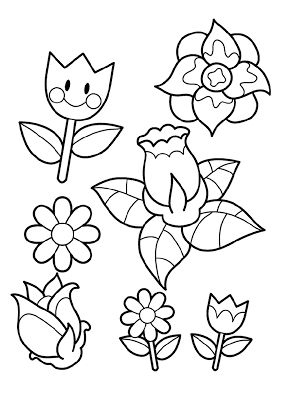Coloring Pages Flower Coloring Pages For Kids Spring Flowers