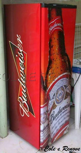 Confira mais um trabalho feito pela Cole e Renove. Envelopamento de Geladeira. Tema: Budweiser. Entre em contato conosco e peça o seu. www.coleerenove.com.br Curta a nossa página: www.facebook.com/Coleerenove2013 Contato: 31 30197134 #decoração #adesivos #EnvelopamentoDeArmarios #EnvelopamentoDeMoveis #vinildecor #AdesivoParaBox #AdesivoParaPorta #EnvelopamentoDeGeladeiras #AdesivoDeParede