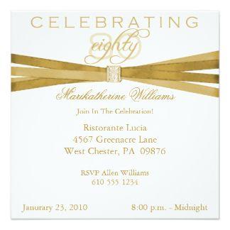 Get FREE Template Free Printable 80th Birthday Invitations