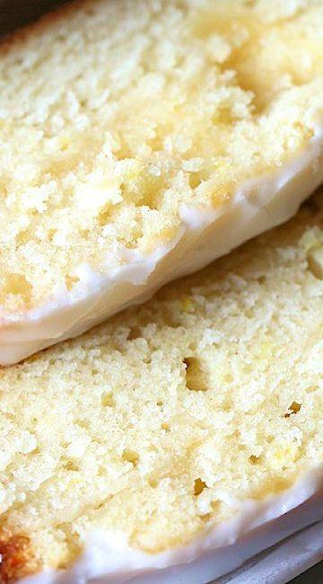 Lemon Curd Pound Cake with Limoncello Glaze