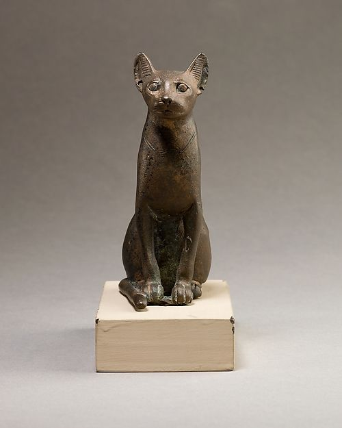 Cat figurine Egyptian. Late Period–Ptolemaic Period