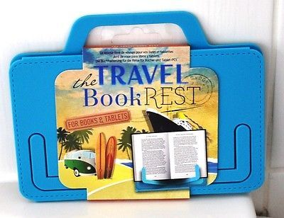 A blue #travel #book/tablet rest #unused,  View more on the LINK: http://www.zeppy.io/product/gb/2/172115037361/