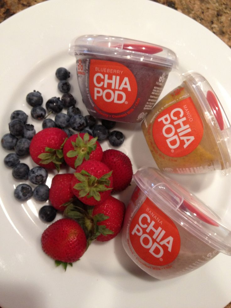 Make your own chia pods; delicious, if you can't handle different textures then this is not for you. I thought it was too thick and mixed it with yogurt for breakfast!