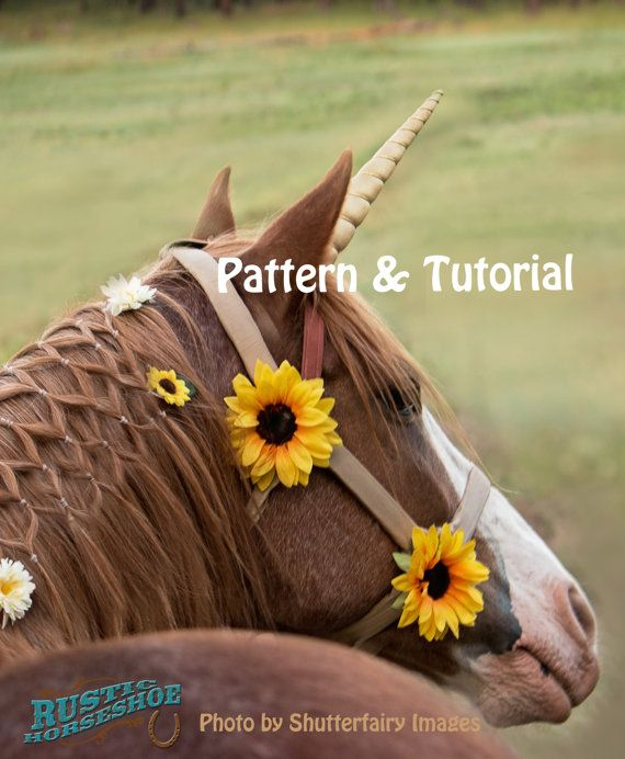 DIY Unicorn Horn Costume Piece for a Live Horse by RusticHorseShoe