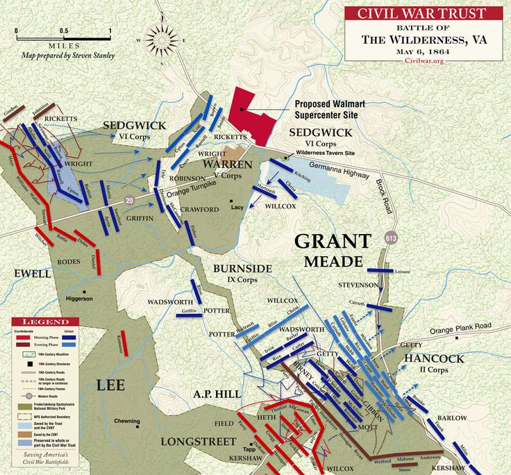 Civil War Battle Maps | Battle of The Wilderness - May 6, 1864