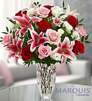 Marquis by Waterford® Red Rose and Lily Bouquet