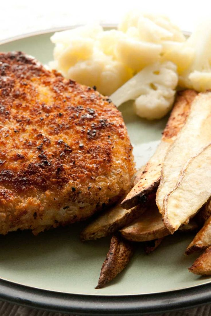 Oven-Fried Pork Chops - Weight Watchers (3 Points)