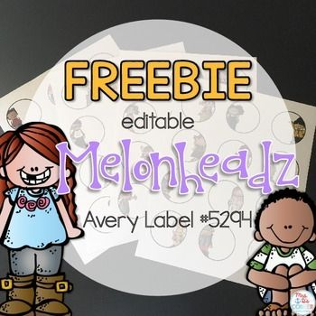 """Keep your classroom organized with these editable Melonheadz themed classroom labels. These circles measure 2"""" in size, giving you the perfect 2.5"""" circle label when printed on Avery Label 5294.Use PowerPoint to edit each of the 48 labels. Print and organize! *For best results, I suggest purchasing a pack of Avery Label 5294."""