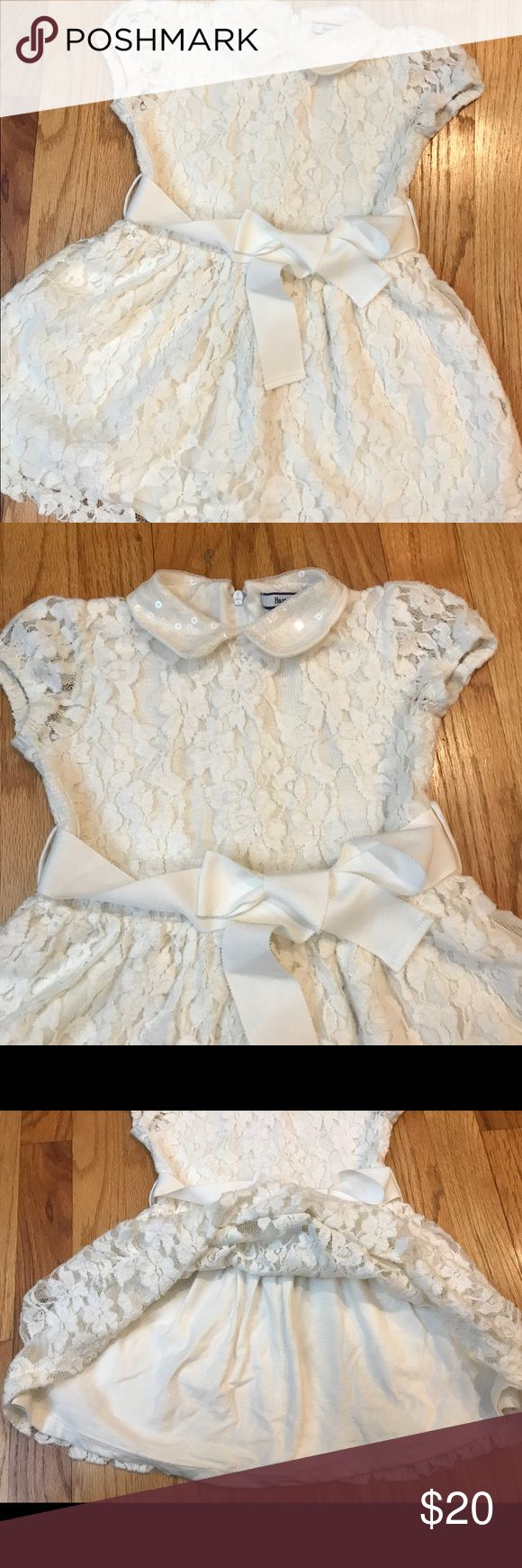Heartstrings toddler/ little girl white dress Heartstrings toddler/ little girl white dress size in 3T with adjustable straps. Only worn this twice. No stains or marks. Comes from a smoke free home as well. Hartstrings Dresses Formal