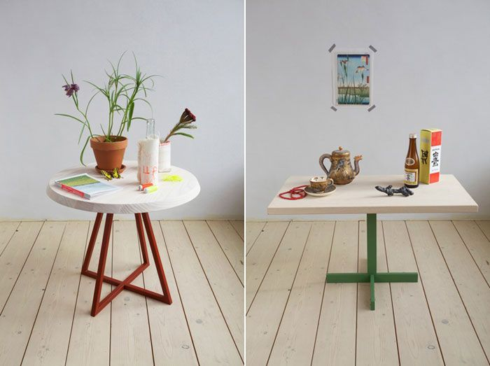 Ben and Tatjana's dutch design studio has collaborated with (styling and photography) Christien Starkenburg and her amazing collection side-tables called the MUN collection.