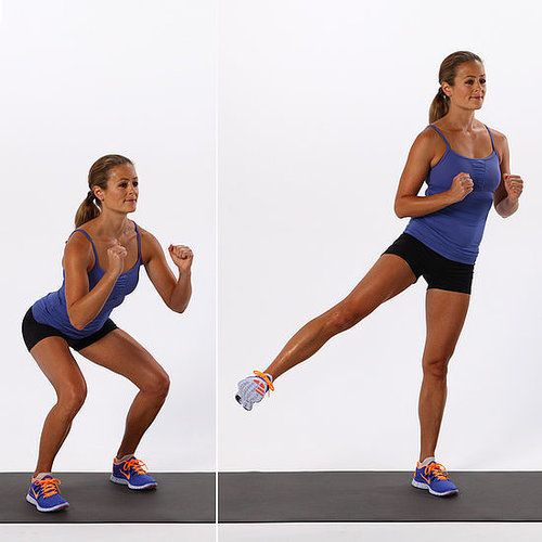 Basic Squat With Side Leg Lift
