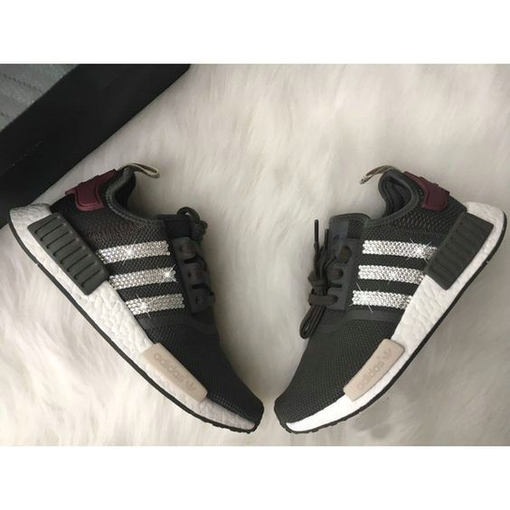 factory authentic 22a18 8d41b switzerland over half off new arrival 2017 june swarovski adidas nmd r1  primeknit black pink casual