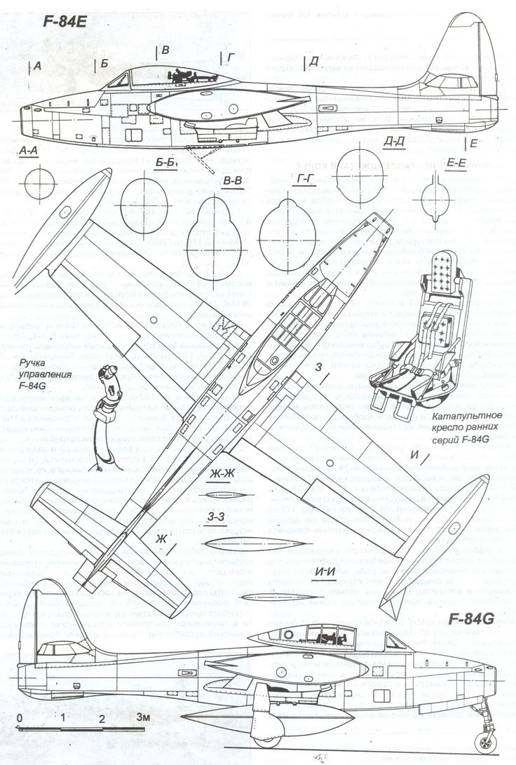 republic f-84 thunderjet blueprint