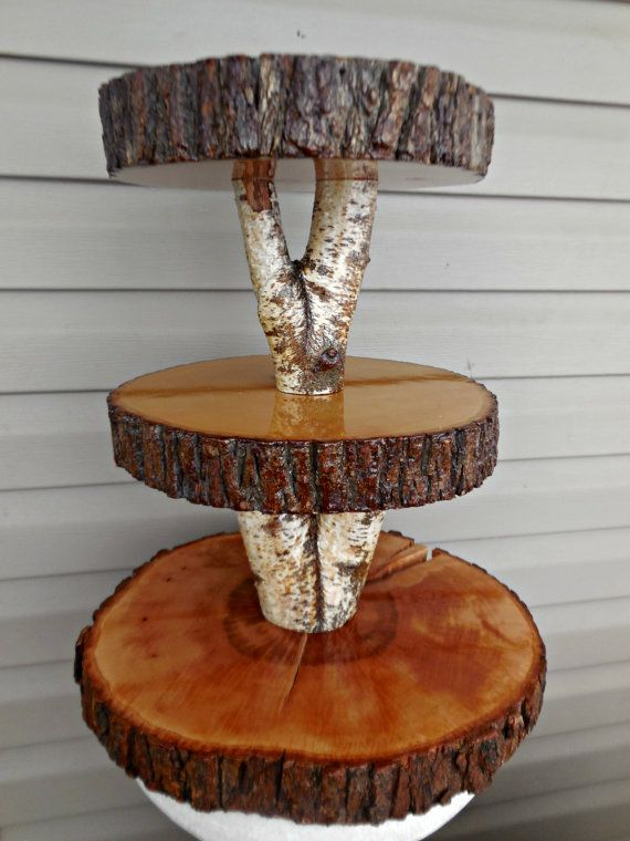 Hey, I found this really awesome Etsy listing at http://www.etsy.com/listing/176339510/rustic-wedding-birch-cupcake-stand