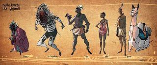 La Nuova Spremuta d'Inchiostro: Nelle Lande dei Giganti - Personaggi