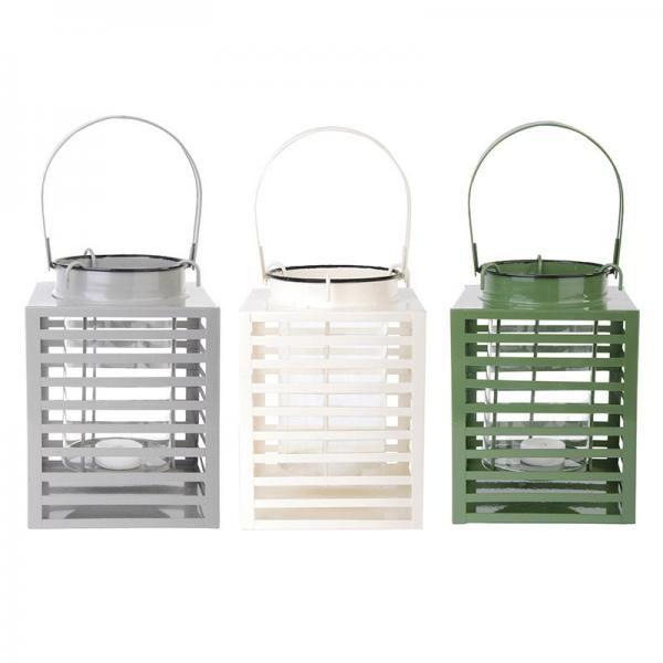 Fém lámpás három színben: zöld, szürke és fehér.