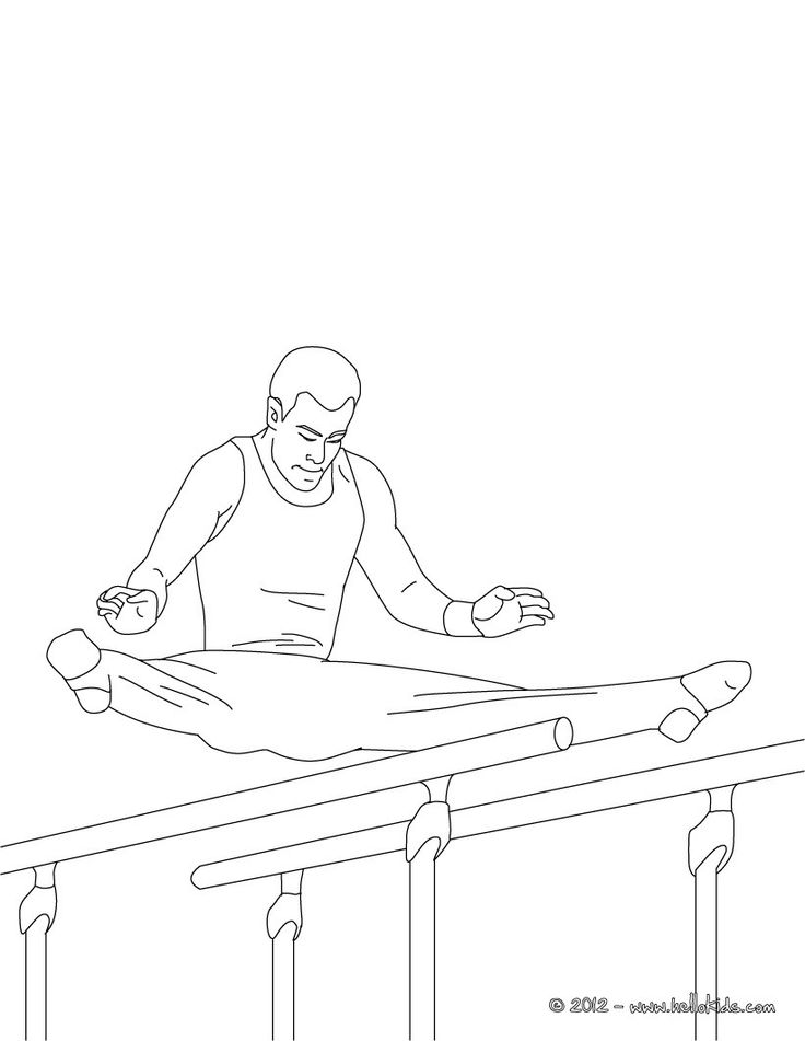 PARALLEL BARS Artistic Gymnastics Coloring Page Add Some Colors Of Your Imagination And Make This Nice