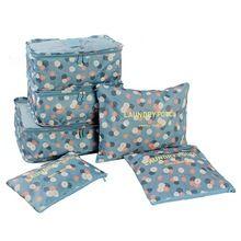 LASPERAL 6 Unids/set Impermeables Bolsas de Almacenamiento de Zapatos de Viaje Cordón Recipientes de Almacenamiento de Maquillaje Bolsa de Lavandería de la ropa Interior 10 Colores(China)