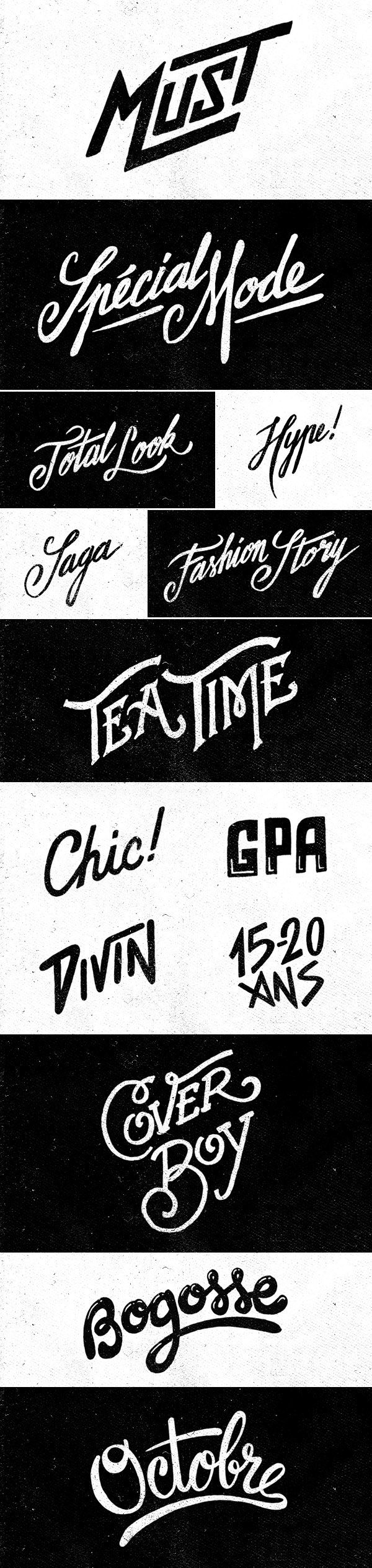 Hand Lettering - Têtu Magazine on Typography Served