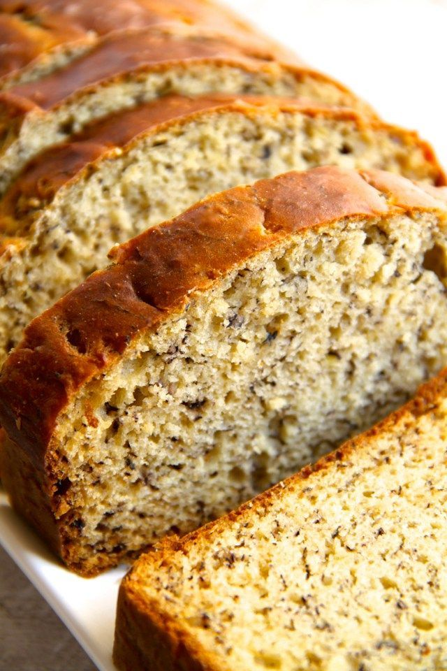 Awesome Banana Bread with honey and applesauce instead of sugar & oil. Delicious & Healthy.