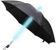 Say no more to walking through the rain in those dark, stormy day or nights with no umbrella, and let your Blade Runner Umbrella be your guide. This wicked umbrella is a futuristic black umbrella that comes fully loaded with an LED light-up shaft, and turns on with a simple tap of a button.    Coming in your choice of either white or blue LED shafts, this Blade Runner Umbrella would be the coolest geek accessory to add to your collection of parasols.: Glow Sticks, Lightsaber Umbrellas, Trav'Lin Lights, Rainy Day, Style Led, Led Umbrellas, Stars War, Blade Runners, Starwars