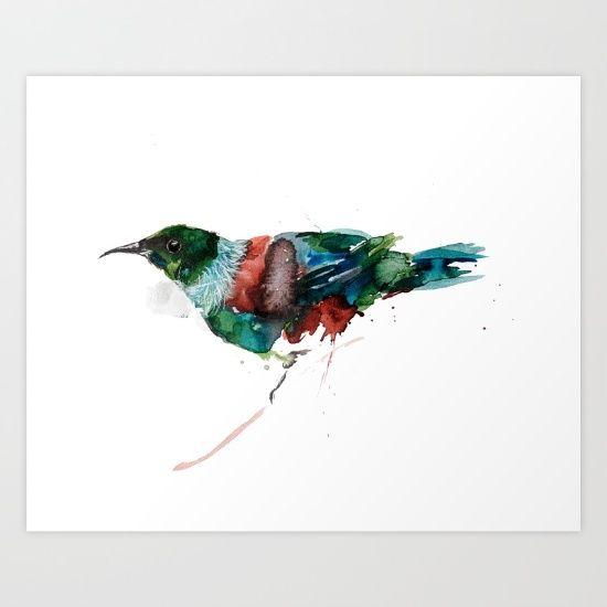 Tui Teka Art Print by Art By Chrissy Taylor - $22.00