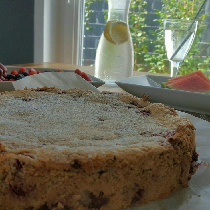 Mandelkuchen mit Himbeeren (7)