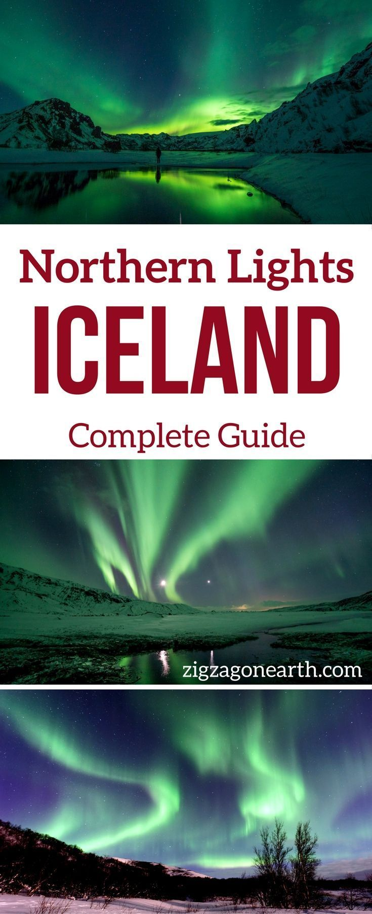 Iceland Travel Guide - Your complete guide on How to see the Northern Lights in Iceland: Conditions, Forecast, Best time, Best places, Best Tours... And how to photograph the aurora Borealis   Northern Lights Iceland   Northern Lights Photography   #Icela
