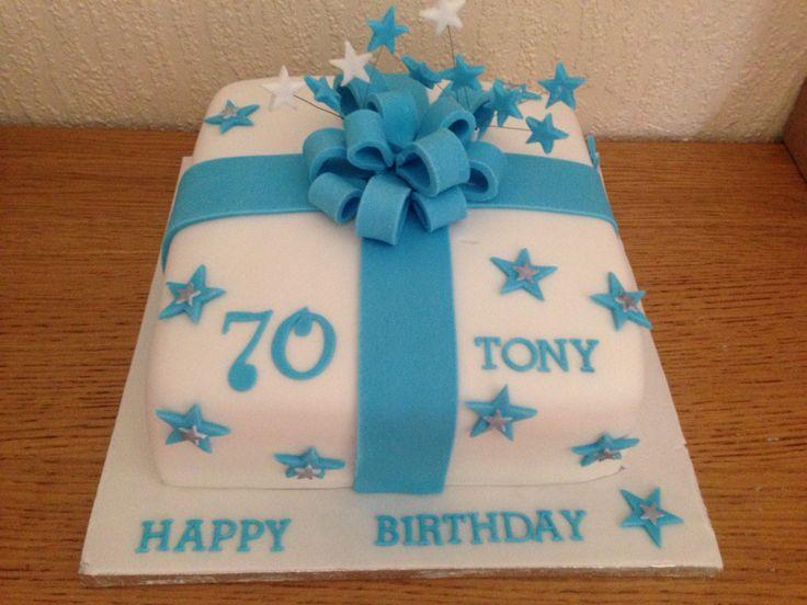 Male 70th Birthday Cake Present