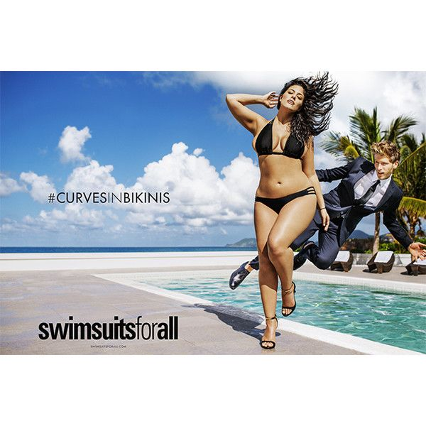 Who is Ashley Graham? First plus-size model in Sports Illustrated... ❤ liked on Polyvore featuring plus size