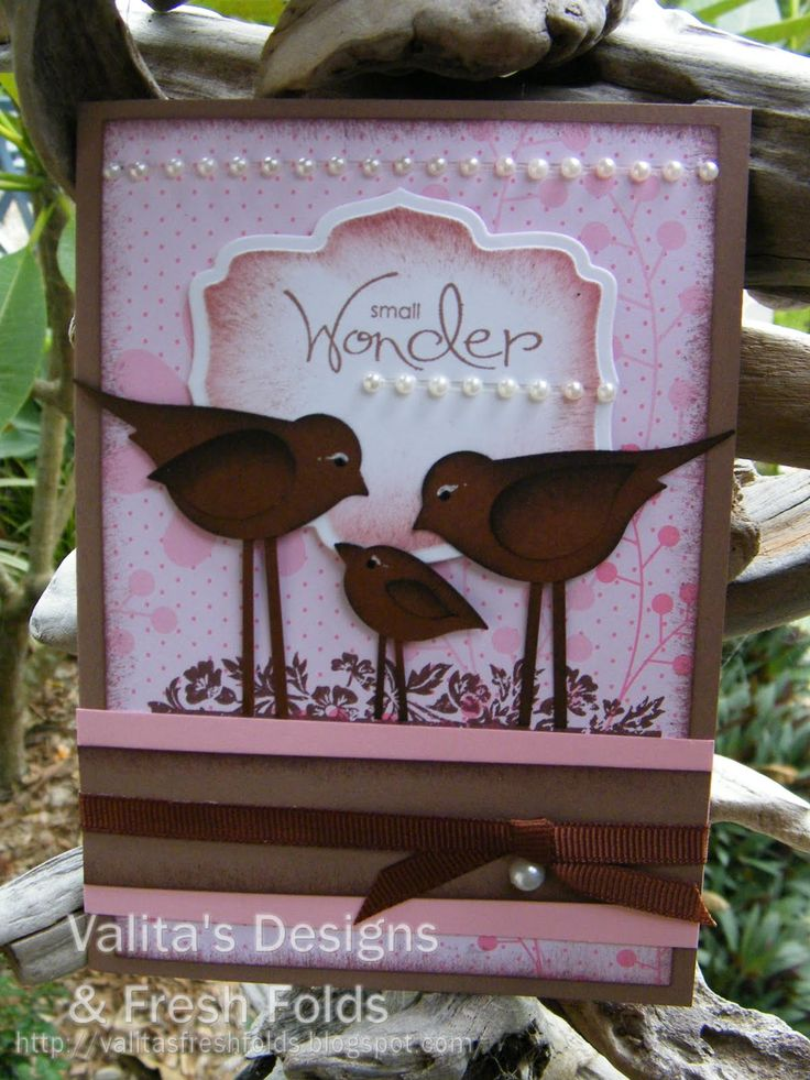 adorable family of long legged birds make with the two step bird punch...