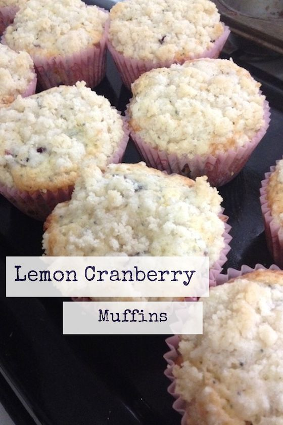 Lemon Cranberry Muffins - These would be delicious on Thanksgiving ...