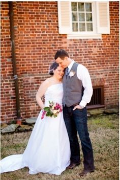 Grooms with Gray Vest jeans and boots | groom style groom attire jean bears denim groom jeans vest grooms in ...