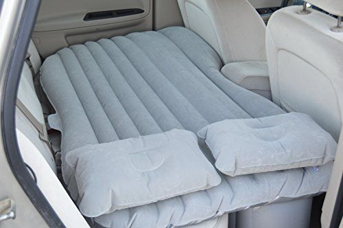 HOMMP Car Travel Inflatable Bed Inflatable Mattress Car Bed for Parent-child or Lover (Orange Oxford Cloth)