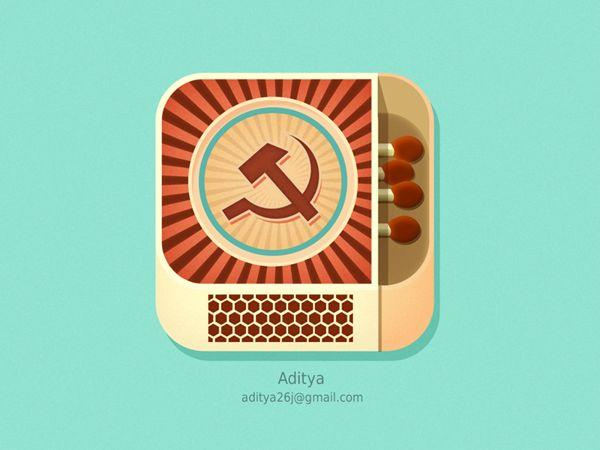 Matchbox ios flat app icon by Aditya Chhatrala, via Behance