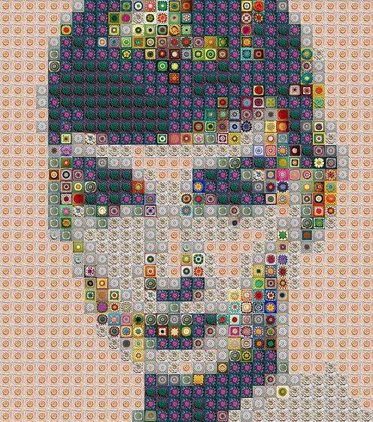 Donut-Infused Mosaics - These Famous Art Pieces are Made With Donuts and Everyday Items (GALLERY)