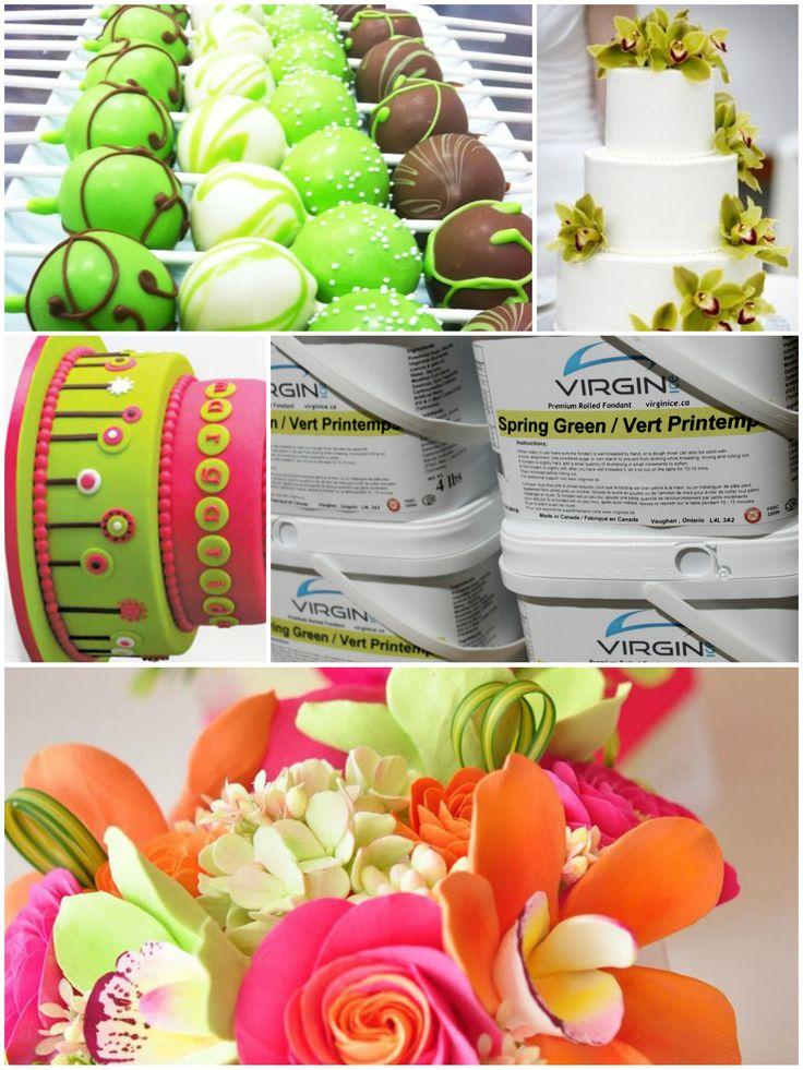 lime green premium virgin ice fondant