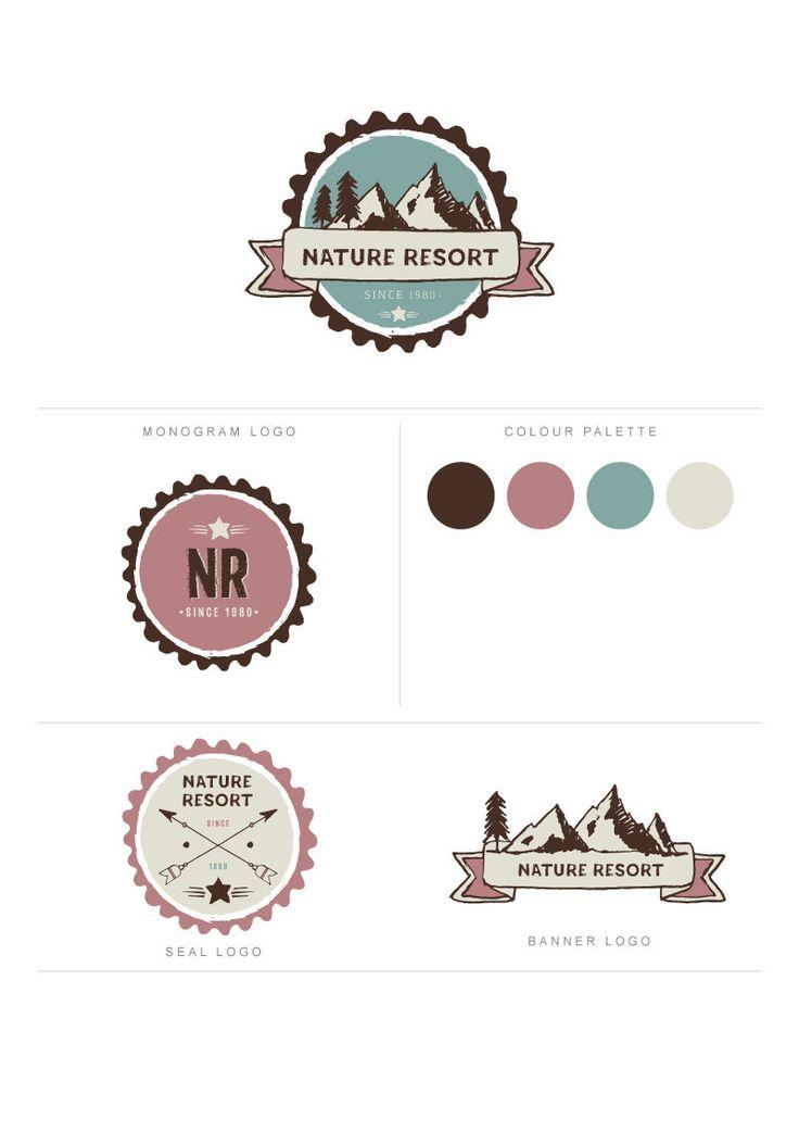 Mini Branding Package, Nature Wild Logo, Premade Logo Kit, Nature Wildness Logo, Resort Logo, Mini Branding Nature Logo, Explorers Logo by DejuDesign on Etsy