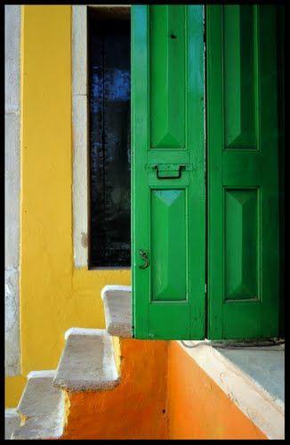 Escalera de color Symi  Greece