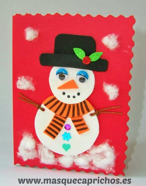 Especial Navidad - Tarjeta Navidad Muñeco de Nieve