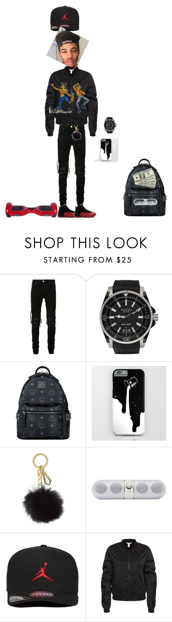 """me 12 yrs old-mike"" by dm4life ❤ liked on Polyvore featuring AMIRI, Gucci, MCM, Michael Kors, Beats by Dr. Dre, Jordan Brand, NLY Trend, men's fashion and menswear"