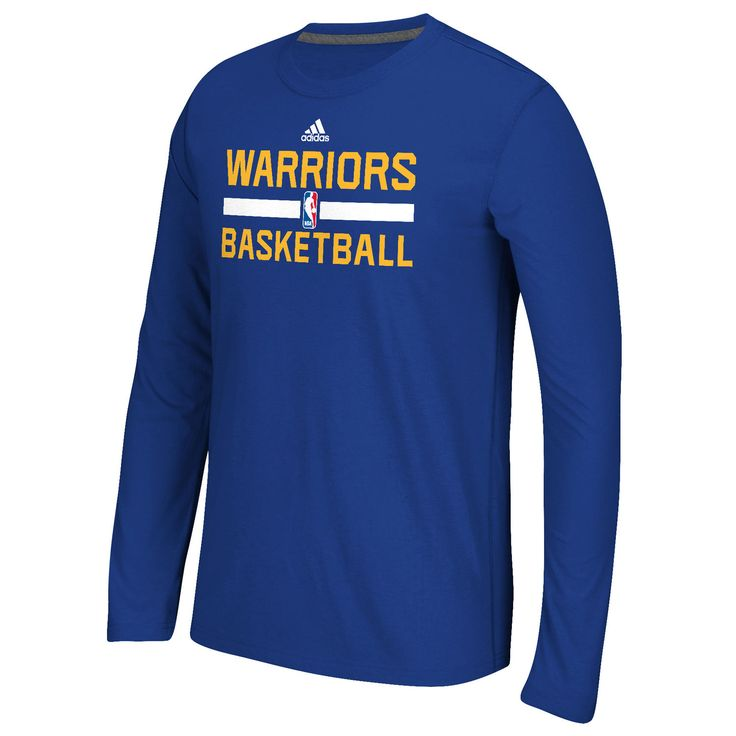 Golden State Warriors adidas Youth Practice ClimaLITE Long Sleeve T-Shirt – Blue