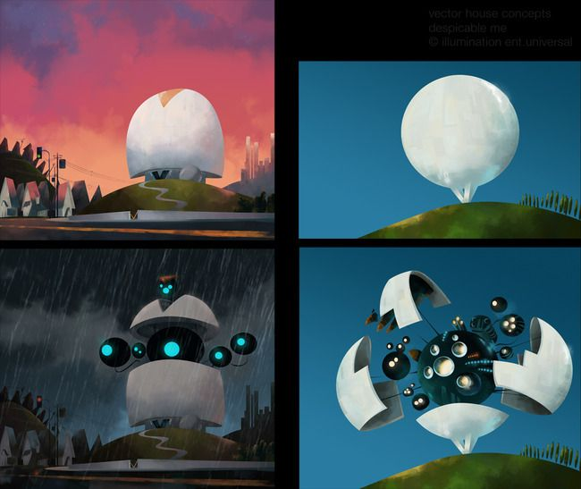 a few pieces of development work from Despicable Me!