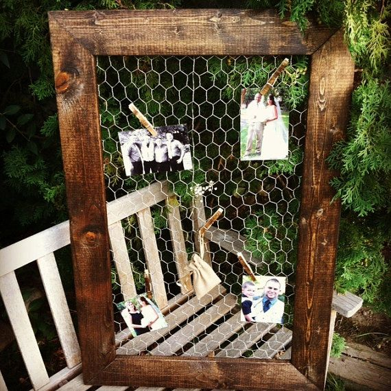 "Chicken Wire Frame 24""x36"", Rustic Frame, Picture Frame, Rustic Wedding, Reclaimed Wood, Home Decor on Etsy, $69.00"